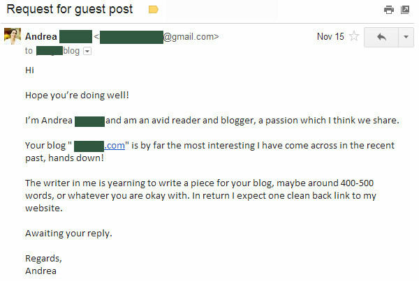 bad guest post email