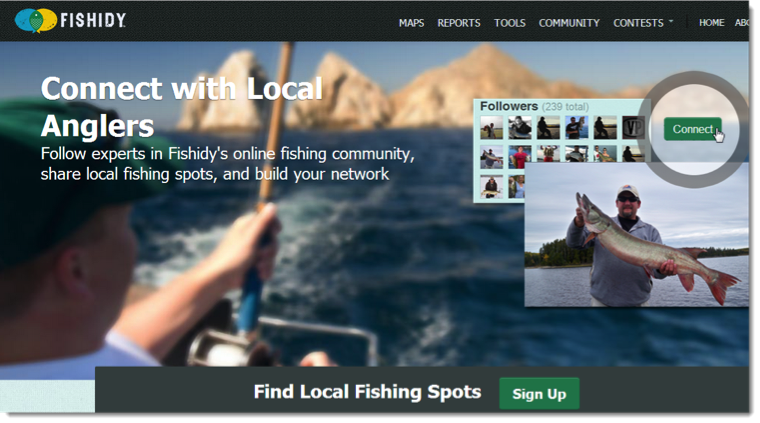 Connect with local anglers